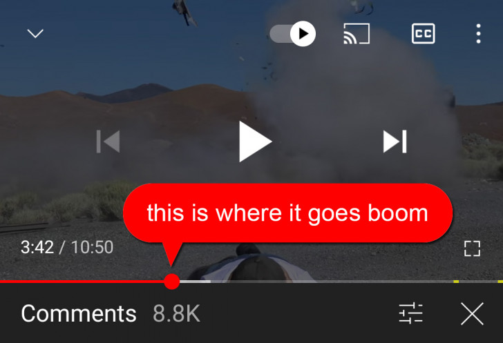 Youtube timestamped comment